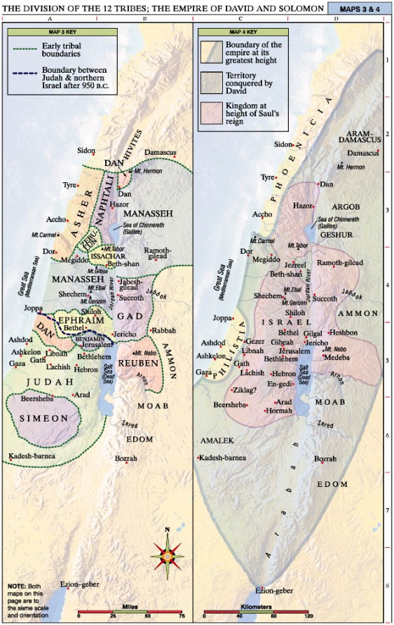 Division of the 12 Tribes