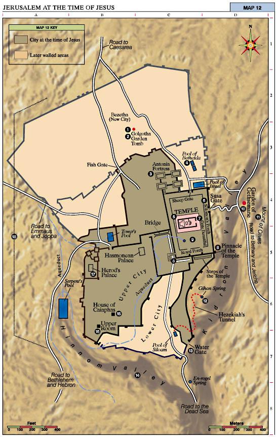 Jerusalem At The Time Of Jesus Map Jesus Reigns - Jerusalem map world