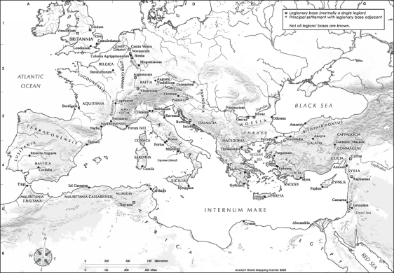 Roman Empire in 69 A.D. before Jerusalem's Temple Destroyed