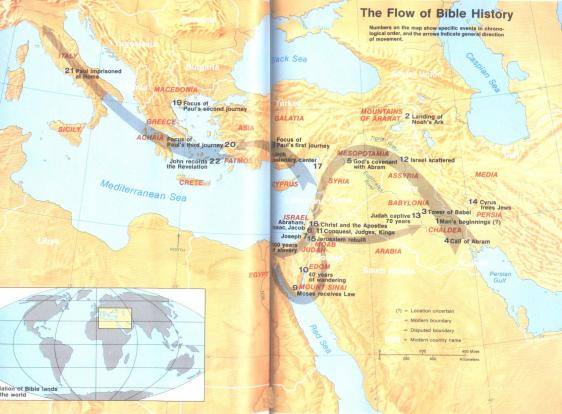 Flow of Bible History From Creation to the Apostle Paul
