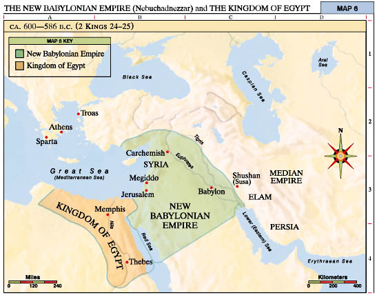 The New Babylonian Empire Nebuchadnezzar And The Kingdom Of - Map of egypt during the new kingdom