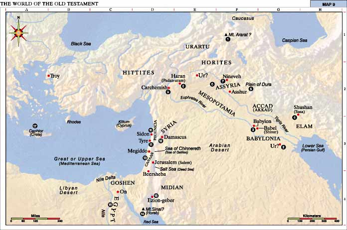 The world of the old testament – map